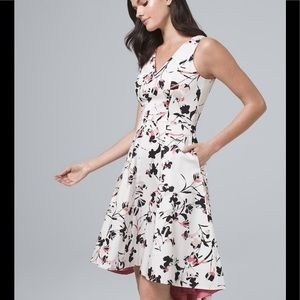💕WHBM COTTON SATEEN FLORAL FIT & FLARE DRESS NWT